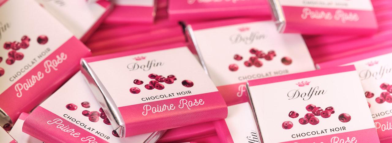 Chocolat noir - Poivre Rose